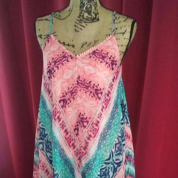 f79307acccdd Rue21 asymmetrical maxi dress tie dye pink. M_5b0195a305f43029e11748c2